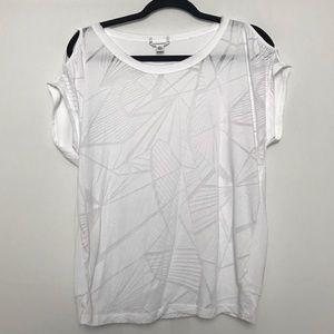 Calvin Klein Cold Shoulder Workout Shirt
